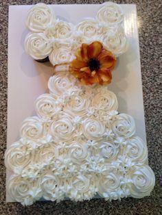 Fall wedding shower cupcakes