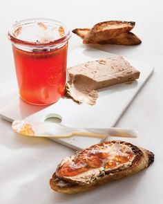Chicken-Liver Crostini with Quince Jelly: The classic pairing of star anise and silky chicken liver tops these sophisticated crostini.