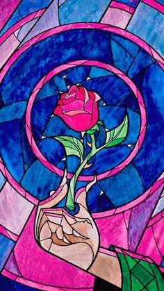 Trendy tattoo disney beauty and the beast rose stained glass Ideas Cute Disney, Disney Dream, Disney Magic, Disney Art, Disney And Dreamworks, Disney Pixar, Walt Disney, Disney Rapunzel, Fera Disney