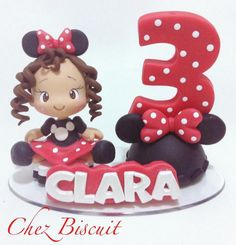 Topo Minnie Vermelha Bolo Minnie, Minnie Mouse, Biscuits, Desserts, Food, Cakes, Baby, Decorated Candles, Cold Pasta