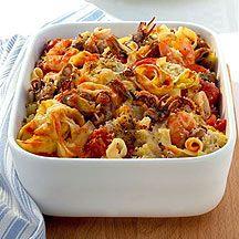 Gratinado de tallarines y frutos del mar ¡Se nos hace agua la boca! #recetas #cocina