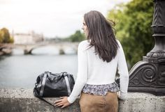 Joe by Léa Toni - Black - Leather bag made in Italy