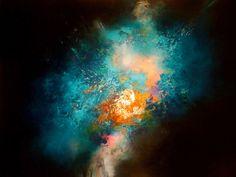 Grande toile peinture abstraite par Simon Kenny Nova