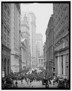 On March 16, 1830, the New York Stock Exchange sets a record for its slowest trading day in history, with only 31 shares sold. (Perspective: there hasn't been a day since 1953 that fewer than a million shares have been traded, and since 1997, never fewer than 1 billion.) This is currently our oldest photo of the exchange (1905). Fade here: http://www.whatwasthere.com/b/4771