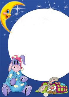 Cute Night Kids PNG Photo Frame