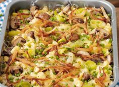 Käsespätzle mit Pilzen