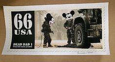 James Cauty 66 USA Dead Dad 1 Op Magic Kingdom Printers proof 57cm x 28cm 2007