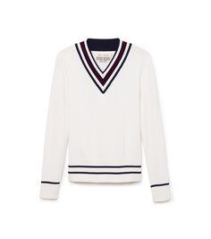 Tory Sport Performance Merino V-neck Sweater