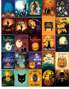 Free Printable-Halloween Theme Planner Sticker Sheet