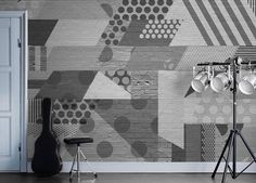 Glimmer and Gold wall mural from Mr Perswall by Alexandra Nildén in the wallpaper mural collection Street Art. Customize and order wall murals online.