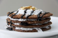 Chocolate Coconut Protein Pancakes Clean Eating, Fitness, Vegan, Dairy Free, Guten Free