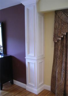 Interior cornice crown mouldings designs profiles for Interior support columns