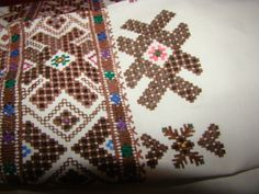 """Blind"" cutwork (""сліпе вирізування"") - embroidery, which  copies cutwork patterns without cutting textile. Vinnytsya region, Ukraine"