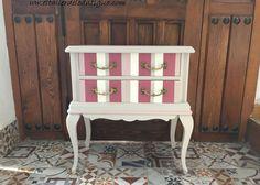 pintamos un viejo mueble y lo adaptamos a un cuarto infantil. Renueva tu hogar con pintura decorativa en muebles. Pinta un buró como escritorio.