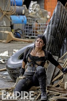 I need to cosplay this and I need to find this corset. Deadpool - Gina Carano as Angel Dust