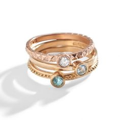 Three Sisters Aphrodite Gold Stacking Birthstone Ring is the perfect Mother's Birthstone Ring - with a modern twist, these rings prove sentimental jewelry gifts. 14k Gold Jewelry, 14k Gold Ring, Gold Rings, Ruby Jewelry, Jewellery, Mother Jewelry, Mother Rings, Three Sisters Jewelry, Birthstone Stacking Rings