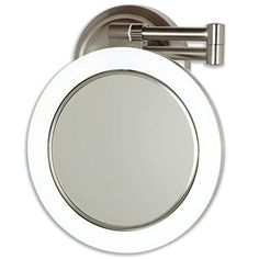 Lighted wall mounted magnifying mirrors for bathrooms google 14999 dimmable sunlight wall mirror in satin nickel type hardwire personal makeup mirrors aloadofball Images