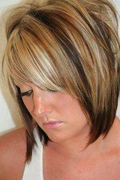 blonde + caramel highlights on brown hair