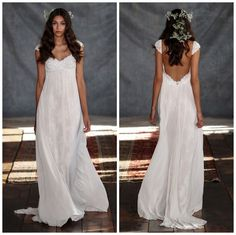 Claire Pettibone Romantique backless wedding dress
