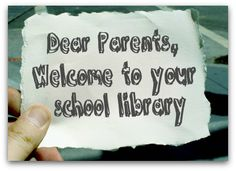 welcome Your back to school letter | SLJ