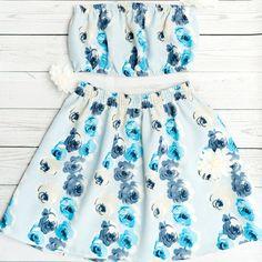 AMELIA SET - BLUE BLOOMS Gypsy Style, Hippie Style, Bohemian Style, Boho Chic, Hippie Masa, Hippie Chic, Skirt Fashion, Boho Fashion, Fashion Outfits