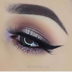 Muted lilac eye makeup #eyes #eye #makeup #neutral #glitter
