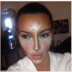 Always Dolled Up: The Power of Contouring: Kim Kardashian