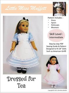 """DRESSED FOR TEA 18"""" DOLL CLOTHES"""
