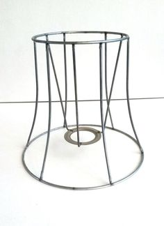 Wire Lampshade Frames Beauteous Lamp Shade Frame  Wire Frame Authentic Vintage Lampshade Wire Inspiration
