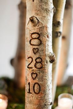 If you�re having a rustic-style wedding, carve your initials into branches. | 31 Impossibly Romantic Wedding Ideas