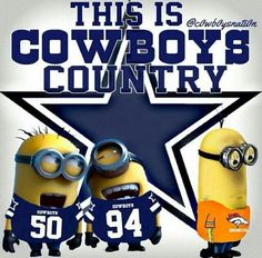 Dallas Cowboy minion fans