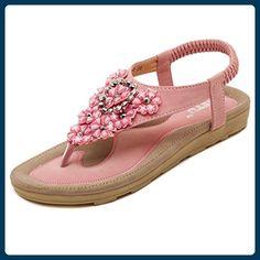 Hattie Damen Knöchelriemchen, Pink - Aprikose - Größe: 37.5 EU/Asienn 40