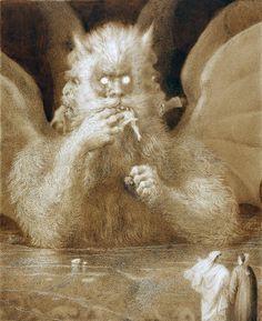 """Lucifer"". Por Francesco Scaramuzza, Dante's Inferno: Canto XXXIV. http://iglesiadesatan.com/"