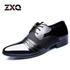 Encontrar Más Pisos para hombres Información acerca de 2016 nuevo estilo del verano hombre zapatos de cuero plana Oxford de negocios en punta hombres visten zapatos de punta, alta calidad vestido único, China zapatos de los niños se visten Proveedores, barato vestido de revestimiento de ZXQ en Aliexpress.com