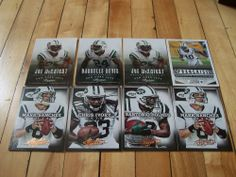 NEW YORK JETS 2013 Panini Absolute Prestige Score 8 Card Lot Sanchez Revis Ivory #NewYorkJets #TeamFollowBack