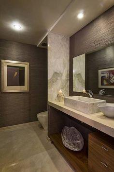 Residencia Toronjos: Baños de estilo Moderno por Olivia Aldrete Haas Modern Bathroom, Small Bathroom, Bathrooms, Interior Decorating, Interior Design, Bathroom Inspiration, My Dream Home, Interior Architecture, House Design