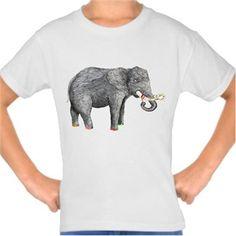 Sanatçı fil Kendin Tasarla - Çocuk Tişört