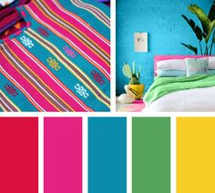 Home Decoration Inspiration Colour Pallette, Colour Schemes, Color Combos, Color Harmony, Color Balance, Room Colors, Paint Colors, Mexican Colors, Fiesta Colors