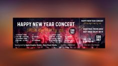 How To Design Event Ticket Template in Photoshop - Apple Graphic Studio Concert Ticket Template, Valentines Day Card Templates, New Year Concert, Selling A Business, Elephant Crafts, Ticket Design, Letterhead Template, Happy New Year, The Past