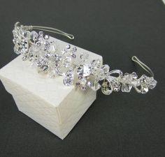Crystal and Rhinestones Bridal Tiara, Bridal hair comb, Wedding hair accessories, Bridal Headpieces, Rhinestone hair comb bridal