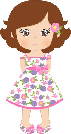 "Photo from album ""«Spring Shabby Chic Girl Clipart, Cute Clipart, Felt Dolls, Paper Dolls, Cute Images, Cute Pictures, Foam Crafts, Diy And Crafts, Cute Cartoon"