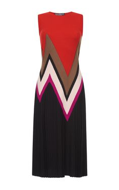 Sleeveless Zig Zag Dress by SALVATORE FERRAGAMO for Preorder on Moda Operandi