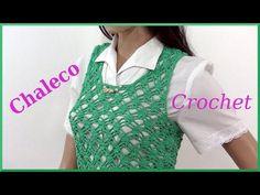 Chaleco Calado en Tejido Crochet (Ganchillo)