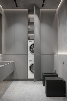 Home Building Design, Home Room Design, Laundry Room Design, Laundry In Bathroom, Interior Exterior, Modern Interior, Small Apartment Interior, Interior Minimalista, Bathroom Design Luxury