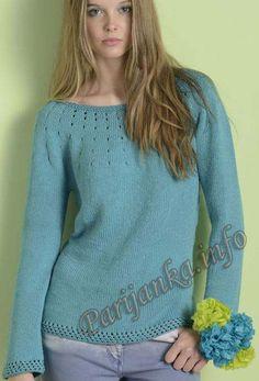 Пуловер (ж) 09*107 Phildar №4165