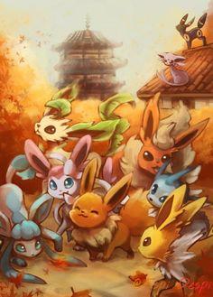 At Ecruteak City Glaceon, Jolteon, Vaporeon, Leafeon. Flareon, Espeon and Umbreon) Pokemon Go, Pichu Pokemon, Pokemon Eevee Evolutions, Pokemon Pins, Pokemon Fusion, Pokemon Rules, Pokemon Poster, Images Kawaii, Dragons