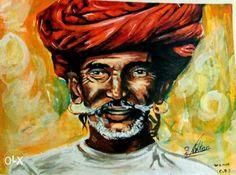 #acrylicpainting #kalaraag #chetuarts #art this a acrylic painting of rajastani old people...