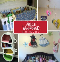 Whimsical and wondrous are wonderful adjectives to start life under, even if your baby's name isn't Alice. <- + 19 other awesome pop culture inspired nurseries (nightmare before christmas, twilight, hunger games, harry potter, doctor who, star wars, lost, etc)