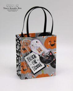 Blog Hop inspireINK – Halloween Täschchen – mit Produkten von Stampin' Up! Halloween Taschen, Stampin Up, Blog, Reusable Tote Bags, Community, Packaging, Creative, Gifts, Stamping Up