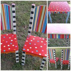 Table Chiars Set CHILDREN KIDS  2 Chairs. Custom by spoiltrottn, $299.00